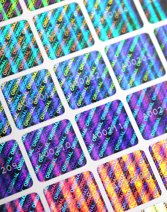 Hologram Labels – «ORIGINAL», 15 x 15 mm with serial numbering