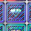 Hologram Labels – «Diamond», 19 x 19 mm, with serial number