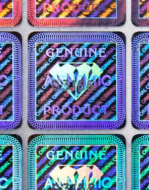 Hologramm-Etiketten – «DIAMANT», 19 x 19 mm, seriennummeriert