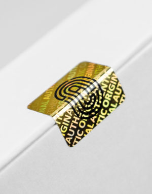 Holografisches Sicherheitssiegel, gold