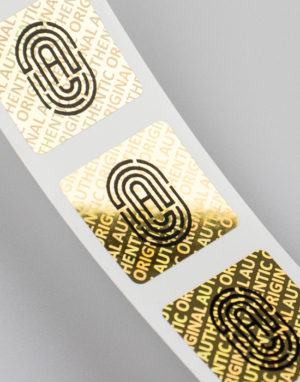 Holographic Labels Gold with imprint