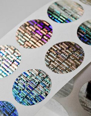 Hologramm-Etiketten rund ø 25 mm