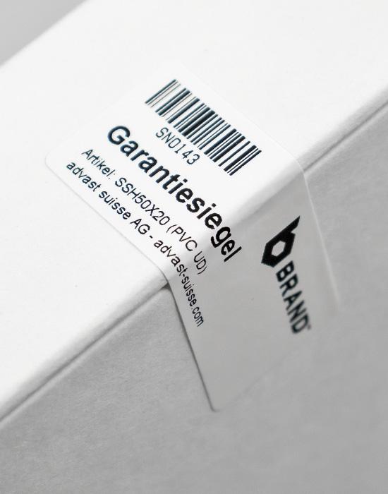 Security Label Vinyl Ultra Destructible