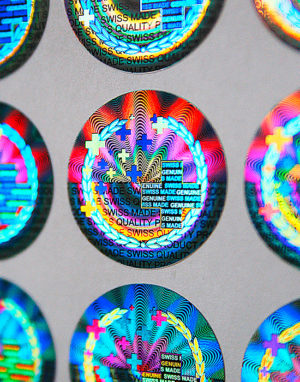 Holographic Label Swiss Made