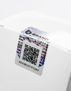 Barcode-Etiketten mit QR-Code